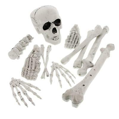 Halloween Haunters 12 Piece Bag of Plastic Skeleton Bones Prop Decoration
