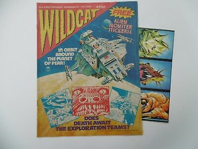 'Wildcat ' Comic No.2, Nov. 5th - 18th, 1988, with Free Alien Monster Stickers.