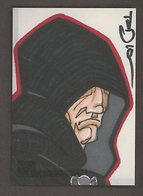 2010 Topps Star Wars The Clone Wars Artist Signed AUTO 1/1 Sketch Card
