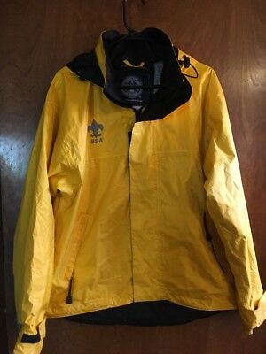 BSA FOULWEATHER COAT mens Small Waterproof Boy Scouts Raincoat