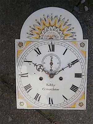 12X17  inch 8DAY  c1810 LONGCASE   CLOCK dial + movement