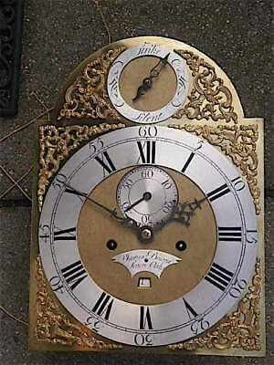 12+16+1/2 inch 8DAY c1740 LONGCASE   CLOCK dial + movement James Bowra, Sevenoak