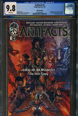 CGC 9.8 2010 Artifacts #1 Gold Foil Variant Edition Image Top Cow Tomb Raider