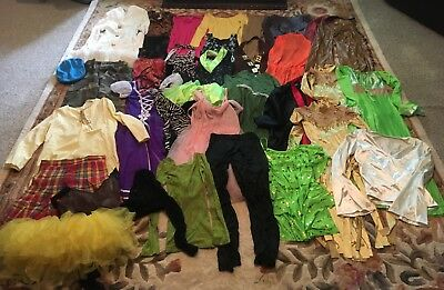 Huge Lot Dress Up Old Dance Costumes Dresses Skirts Leotards Adult Small Theater