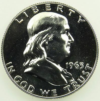 1963 Proof Franklin 90% Silver Half Dollar (B02)