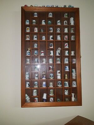 Thimble Display Case With Thimbles