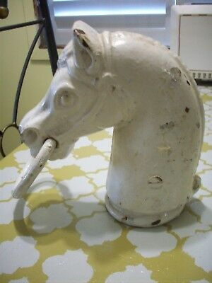 Antique Cast Iron Horse Head Hitching Post Top