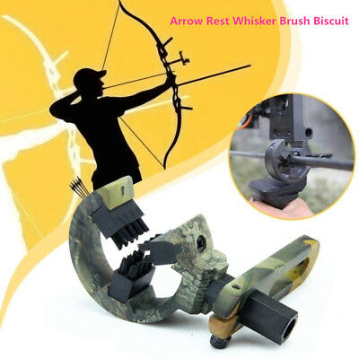 Hunting Shooting Archery Compound Bow Arrow Rest Whisker Brush Biscuit Hand