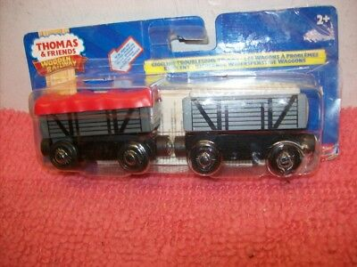 Rare Retired Thomas Wooden Railway Giggling Troublesome Trucks New Open