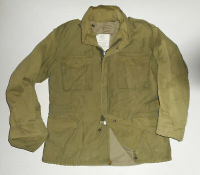 Vtg COLD WEATHER US ARMY Issued Field Jacket M-65 Military Hooded Coat Mens : MD