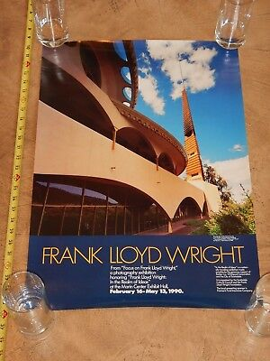 Original 1990 Frank Lloyd Wright Photo Exhibition Poster, Marin County, Ca