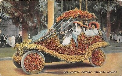 LP64   Hawaii Postcard PMC Island Curio Floral Parade