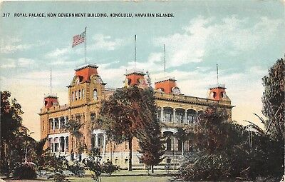 LP55 Honolulu  Hawaii Postcard PMC Island Curio Royal Palace