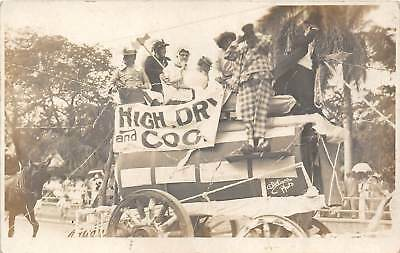LP45,50, Hawaii Honolulu Parade mid Pacific Carnival Postcards RPPC 2 Cards