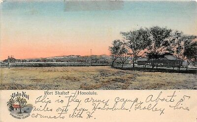 LP52 Hawaii South Sea Curio Postcard Fort Shafter Honolulu