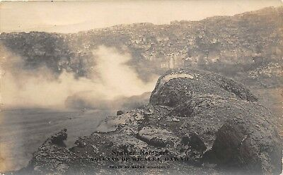 LP14  Baker Kilauea Hawaii Volcano Hawaiian Islands RPPC Postcard Spatter Ramp