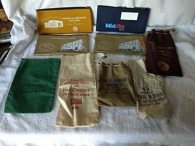 Lot of Vintage Money Bank Deposit Bags from Indiana and Ohio
