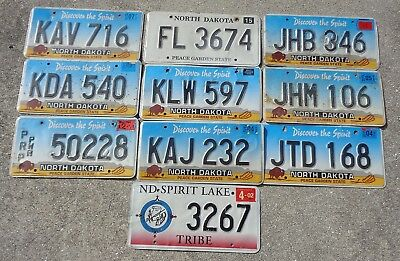 10 North Dakota license plate lot for collecting or craft #2