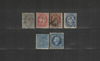 OCT 111 NORWAY - Norge Norwegen lovely selection of EARLY USED stamps