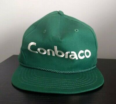 42cb808f541 Vintage Conbraco Green Snapback Hat Made In USA Unihat by Texace Leather  Strap