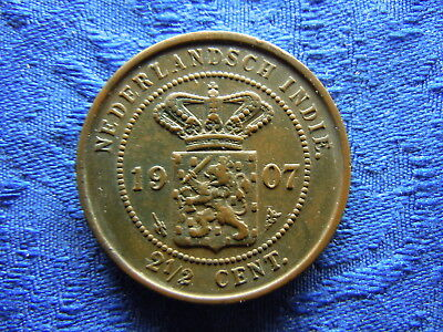 Netherlands East Indies 2,5 Cents 1907, Km308