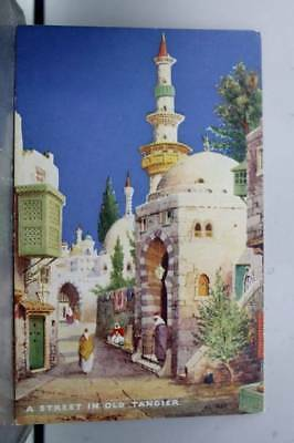 Morocco Tangier Street Charms of the East Postcard Old Vintage Card View Post PC