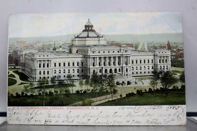 Washington DC US Congressional Library Postcard Old Vintage Card View Standard
