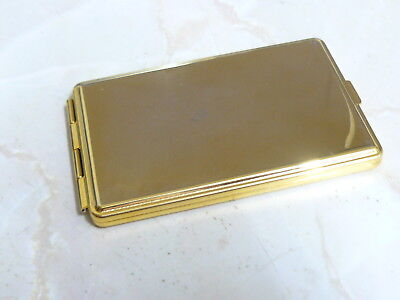 3.5 inch x 2 inch, Brassed Card Holder, Also has Mirror, address Book and Will H