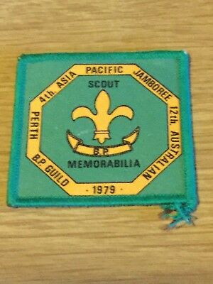 Boy Scout Sew-on Badge 12th Australian 4th Asia Pacific Jamboree Perth 1979 #3
