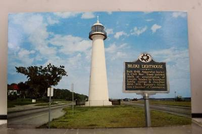 Mississippi MS Biloxi Lighthouse Postcard Old Vintage Card View Standard Post PC