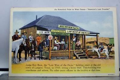 Texas TX Judge Roy Bean Langtry Law West of the Pecos Postcard Old Vintage Card