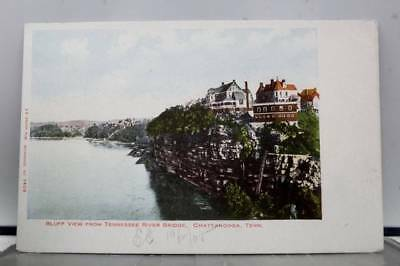 Tennessee TN Chattanooga River Bridge Bluff Postcard Old Vintage Card View Post
