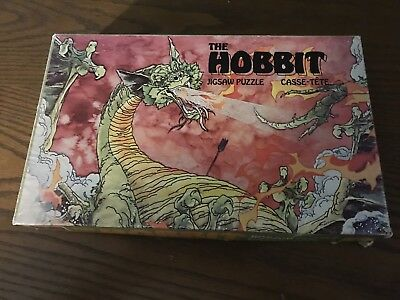 The Hobbit Jigsaw Puzzle From The 1977 Rankin-Bass Animated Film - Incomplete