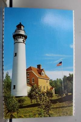 Scenic Lake Superior Outer Island Light Apostle Islands Lakeshore Postcard Old