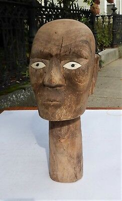 Old Carved Toraja Tau Tau Ancestral Effigy Head of the Dead - Sulawesi Indonesia