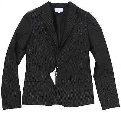 NEW BOYS GUCCI blazer 10 yr black pin-dots dinner suit jacket wool silk designer