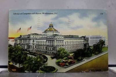 Washington DC Library of Congress Annex Postcard Old Vintage Card View Standard
