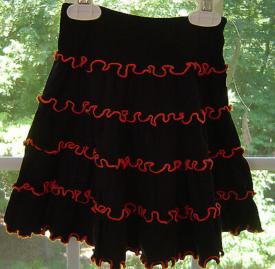 Brand New W/Tags Love U Lots Orange/Black Skirt Girl's Sz 2T