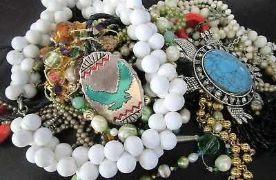 Great Lot of Vintage Jewelry Necklaces Bolo Tie & MORE!