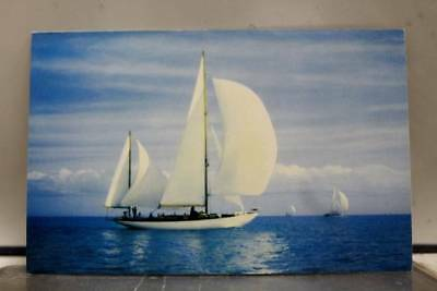 Scenic Smooth Sailing Postcard Old Vintage Card View Standard Souvenir Postal PC