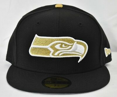 New Era 59Fifty NFL Seattle Seahawks Fitted Hat Cap New New 7 3 8 d9fac7539fdb