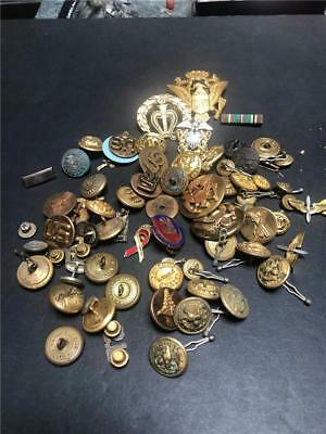USA Military Lot: Buttons, Bars, Insignas and Other