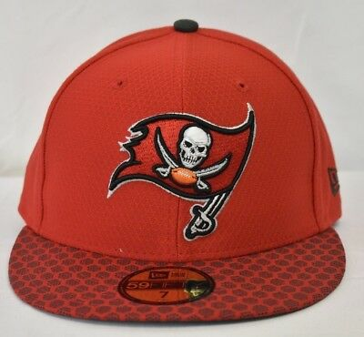 ff802fd41 REEBOK TAMPA BAY Buccaneers Nfl Fitted Hat Cap Orange White Men Sz 7 ...