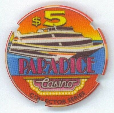Paradice Riverboat Casino $5 chip Sample from Illinois