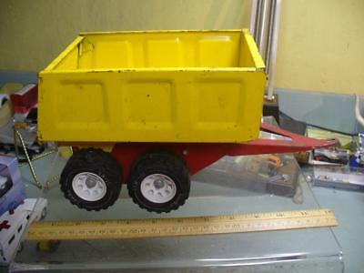 Tonka 1960's pup trailer for large dump truck vintage pressed steel toy