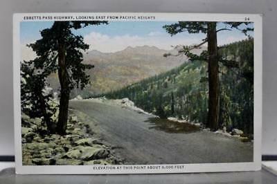 Scenic Ebbetts Pass Highway Postcard Old Vintage Card View Standard Souvenir PC