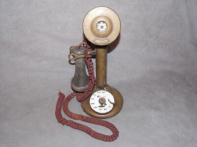 Antique Brass Candlestick Telephone 50AL Western Electric  American Telephone Co