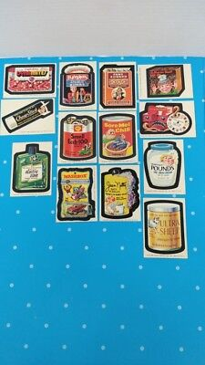 Vintage 1975 Wacky Packages 13 Cards From 15th Series All Different HTF Cards