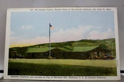 Wyoming WY Summit Tavern Lincoln Highway Postcard Old Vintage Card View Standard