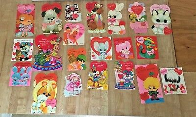 Lot of 21 Vintage UNUSED Valentine's Day Cards w/ Envelopes